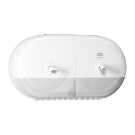 Tork SmartOne® Twin Mini Toilet Roll Dispenser, White