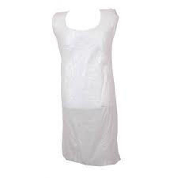 Bodytech Disposable Flat Packed apron (1000 Case), White