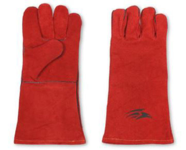 Picture of Welding Gauntlet, Red, Size: 10