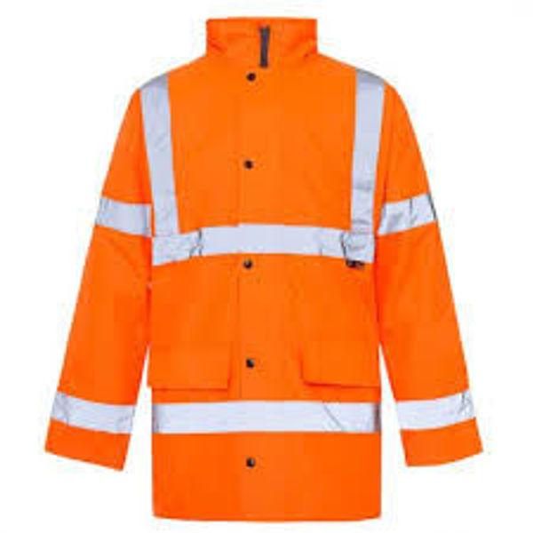 Supertouch Hivis Coat, Orange,