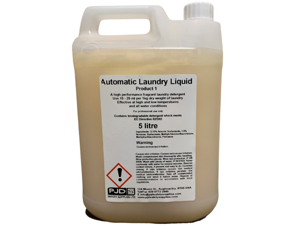 Non-Bio Laundry Liquid, 5Ltr