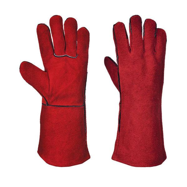 Portwest Welders Gauntlet, Red