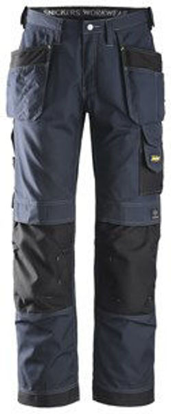 Craftsmen Trousers Rip Stop, Navy/ Black (33R) W/Holster Pockets