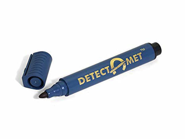 Picture of DETECTABLE PERMANENT MARKER, BLUE INK NON-RETRACTABLE, BULLET TIP