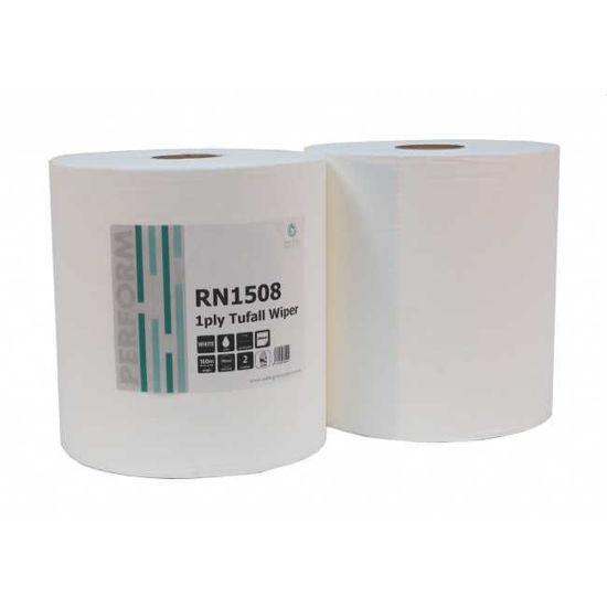 1Ply Tufwipe White Roll, 450 X 240mm X 2, Case
