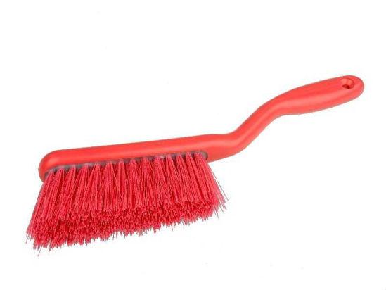 Banister Brush, Crimped Polyester, Red