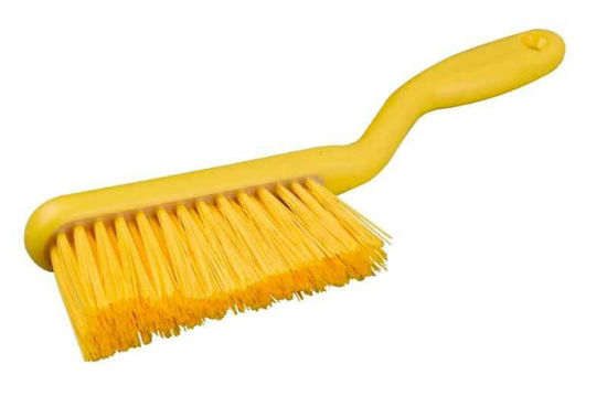 Banister Brush, Crimped Polyester, Yellow