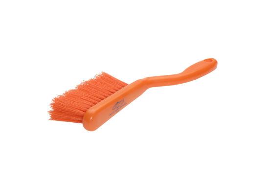 Banister Brush, Crimped Polyester, Orange