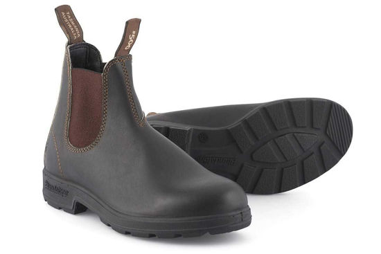 Blundstone Stout Dealer Boot, Round Toe, Brown