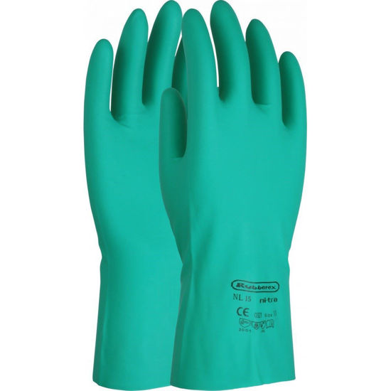 Picture of UCI Green Nitrile Flocklined Gauntlet