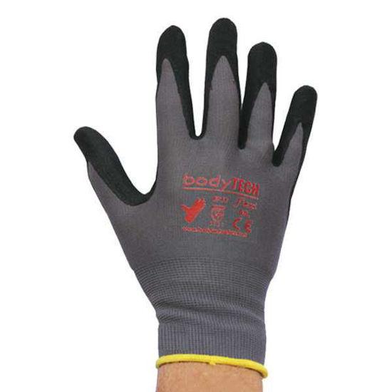 Bodytech Flexi Plus, Nitrile Foam Glove Black/ Grey