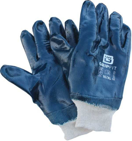 Bodytech Gripfit Fully Dipped Nitrile Glove with Knit Wrist