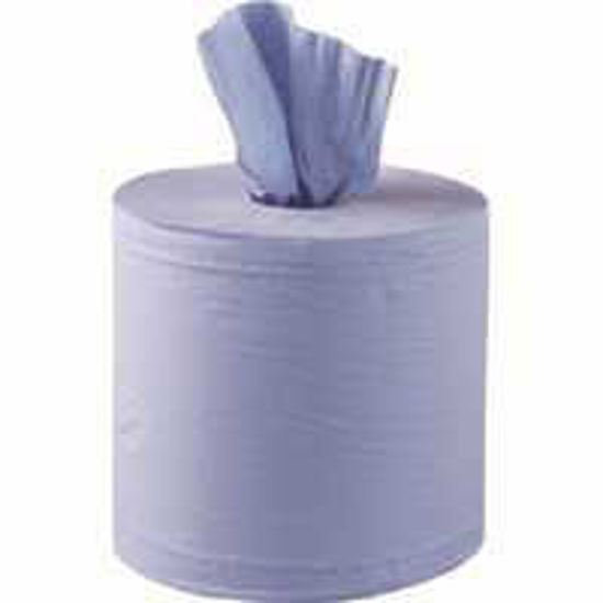 Centrefeed Blue Roll 1ply 300m, (6 Case)