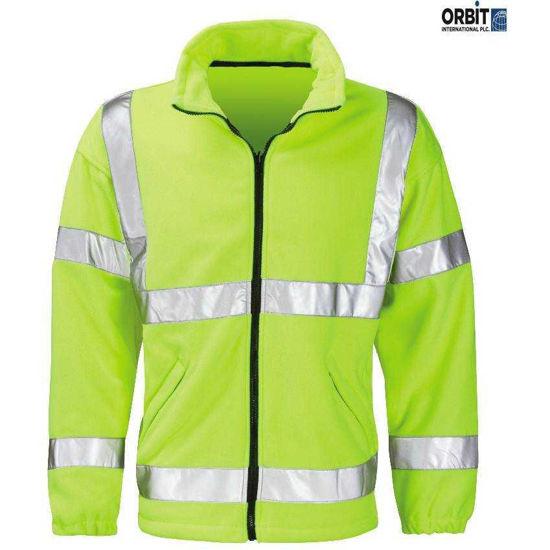 Crusader Hivis Fleece Jacket, Yellow