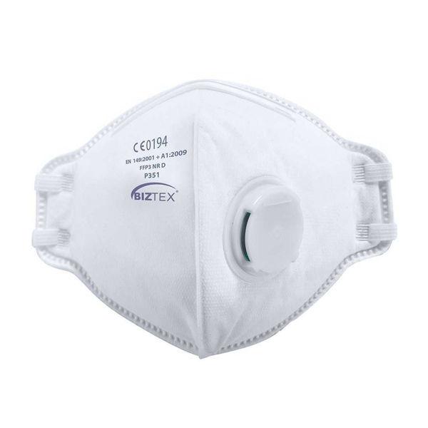 FFP3 Valved Dust Mask, Flat Fold