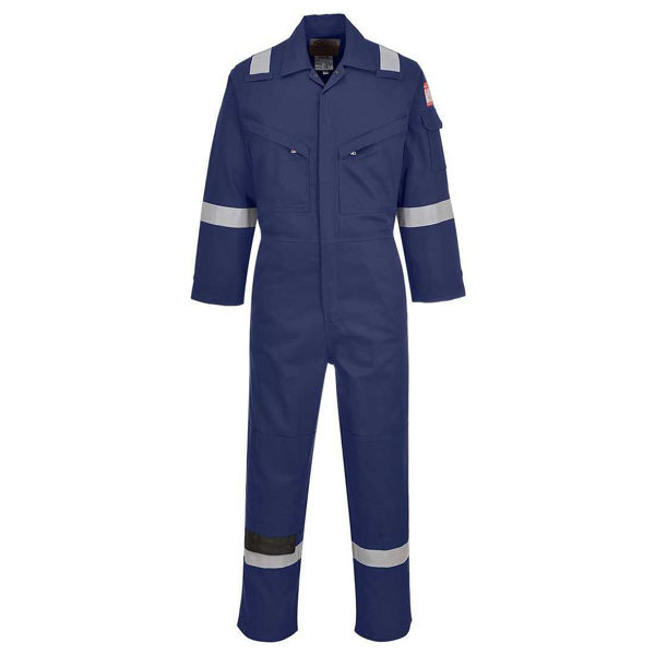 Flame Resistant Light Weight Anti-Static Coverall, Navy