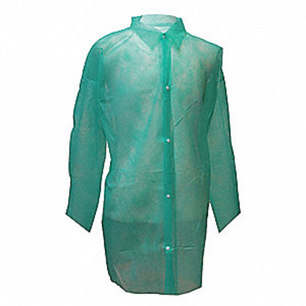 Picture of NON WOVEN VISITOR COAT GREEN (50), SIZE:MEDIUM, **EACH**