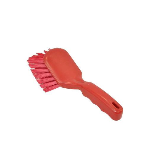 General Purpose Short Handle Brush, Red