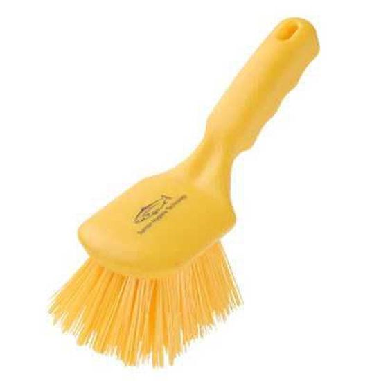 General Purpose Short Handle Brush, Yellow