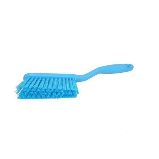 Hand Brush, Stiff Resin, Blue