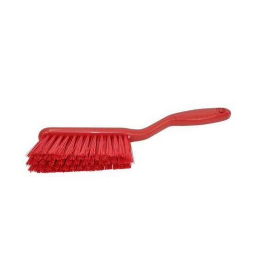 Hand Brush, Stiff Resin, Red
