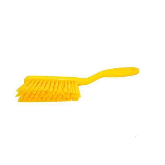 Hand Brush, Stiff Resin, Yellow