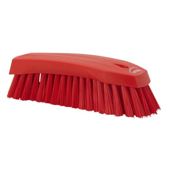 Hard Hand Brush, Red 200mm