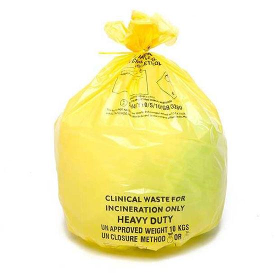 Heavy Duty Clinical Waste Sacks, Yellow