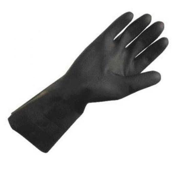 Heavy Duty Rubber Glove Black, Size: Medium
