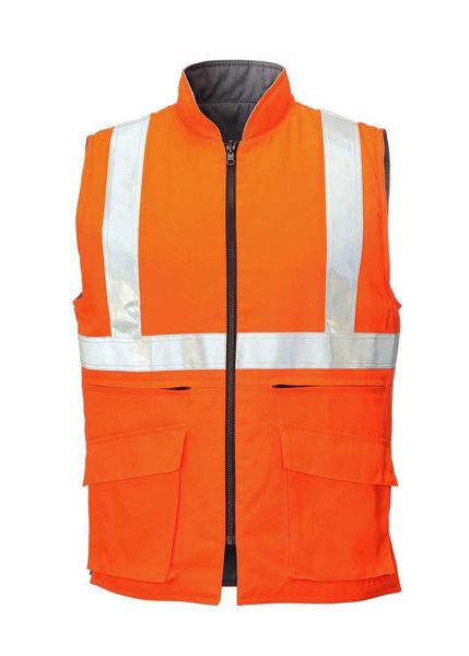 Hi Vis Reversible Bodywarmer, Orange