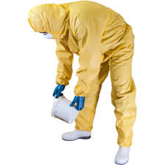 Picture of CHEMSPLASH JET SPRAY  TYPE 3/4 5/6 COVERALLS, YELLOW, EACH WITH HOOD,  SIZE: MEDIUM