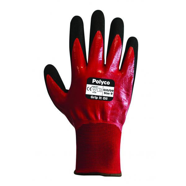 Picture of POLYCO GRIP IT OIL GLOVE, PAIR SIZE:8