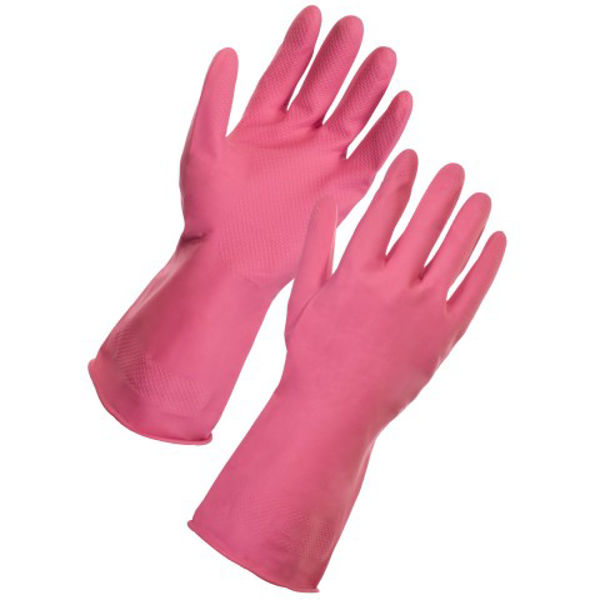 Picture of HOUSEHOLD LATEX, RED, PAIR, SIZE:MEDIUM