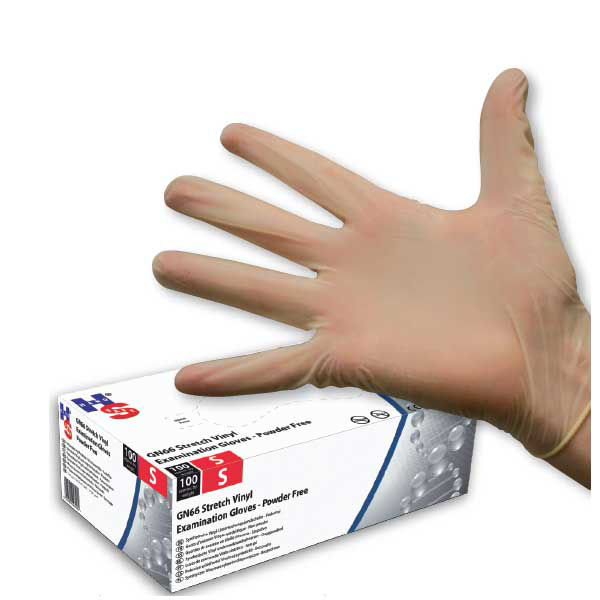 Picture of DISPOSABLE SYNTHETIC GLOVES, WHITE, 1000/CASE (STRETCH VINYL) EXAMINATION QUALITY SIZE:LARGE