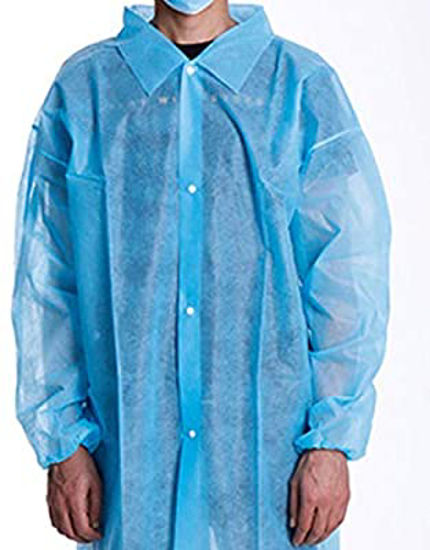 Picture of BODYTECH DISPOSABLE COATS, SKY BLUE SIZE:MEDIUM