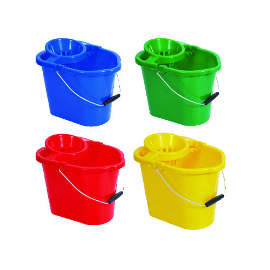 Picture of 12L MOP BUCKET WITH WRINGER, RED (OLD CODE: WQ12-RED)