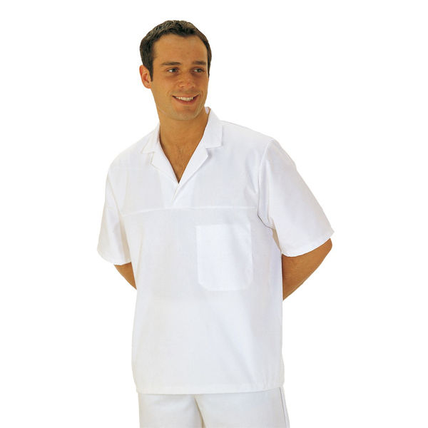 Picture of PORTWEST FOOD SMOCK SHORT SLEEVE WHITE SIZE: XSMALL