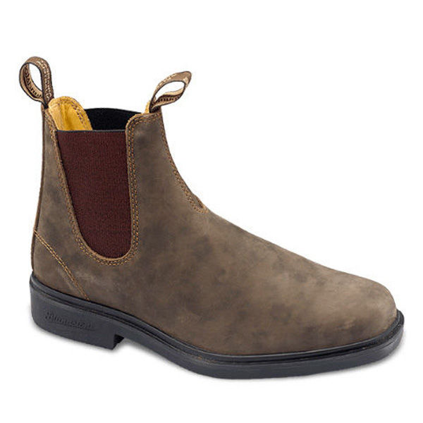 Picture of BLUNDSTONE RUSTIC BROWN DEALER BOOT, PAIR CHISEL TOE, NON-SAFETY, SIZE 8.5