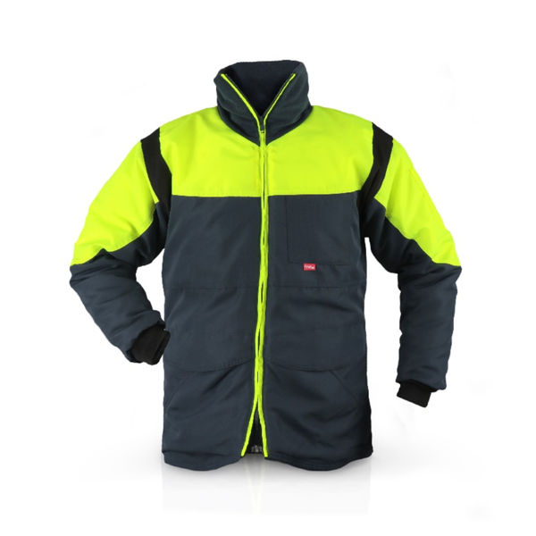 Picture of FLEXITOG CLASSIC COLDSTORE JACKET, YELLOW/NAVY,  SIZE: 2XLARGE