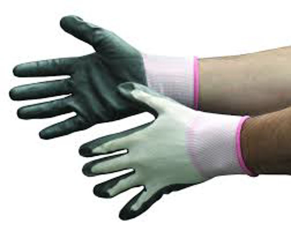 Picture of BODYTECH, NITRILE COATED GLOVE, GREY, PAIR