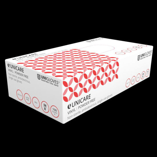 Picture of Uniglove PF Red Vinyl Gloves, 1000/Case, Size XL