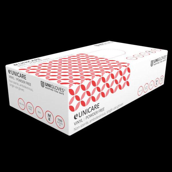 Picture of Uniglove PF Red Vinyl Gloves, 1000/Case, Size L
