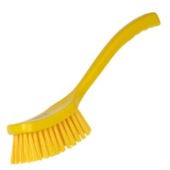 Picture of Professional Stiff 406mm Long Handled Brush, Yellow