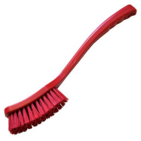 Picture of Professional Stiff 406mm Long Handled Brush, Red
