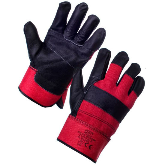 Picture of Supertouch Excel Rigger Glove , Red/Black, Pair