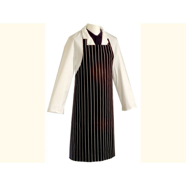 """Picture of APRON, BT, BUTCHER STRIPPED 48"""", EACH, NAVY"""