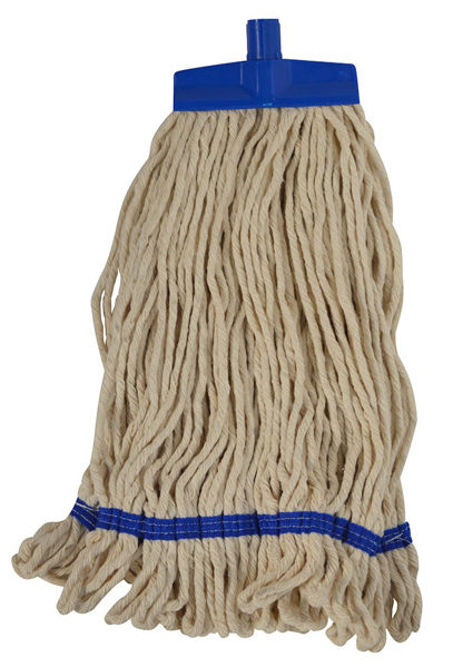 Picture of SYR Cotton Stayflat Looped Mopheads, 16 oz, Blue