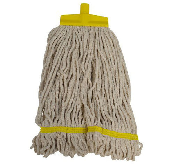 SYR Cotton Stayflat Looped Mopheads, 16 oz, Yellow