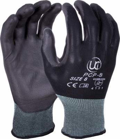 Picture of PU Coated Polyester Glove, Black