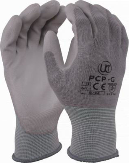 Picture of PU Coated Polyester Glove, Grey